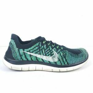 Nike Womens Free 4.0 Flyknit Running Shoes Black